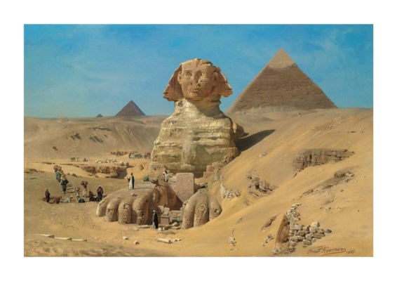 Karl Körner ernst karl eugen koerner german 1846 1927 the excavation of the sphinx christie 39 s