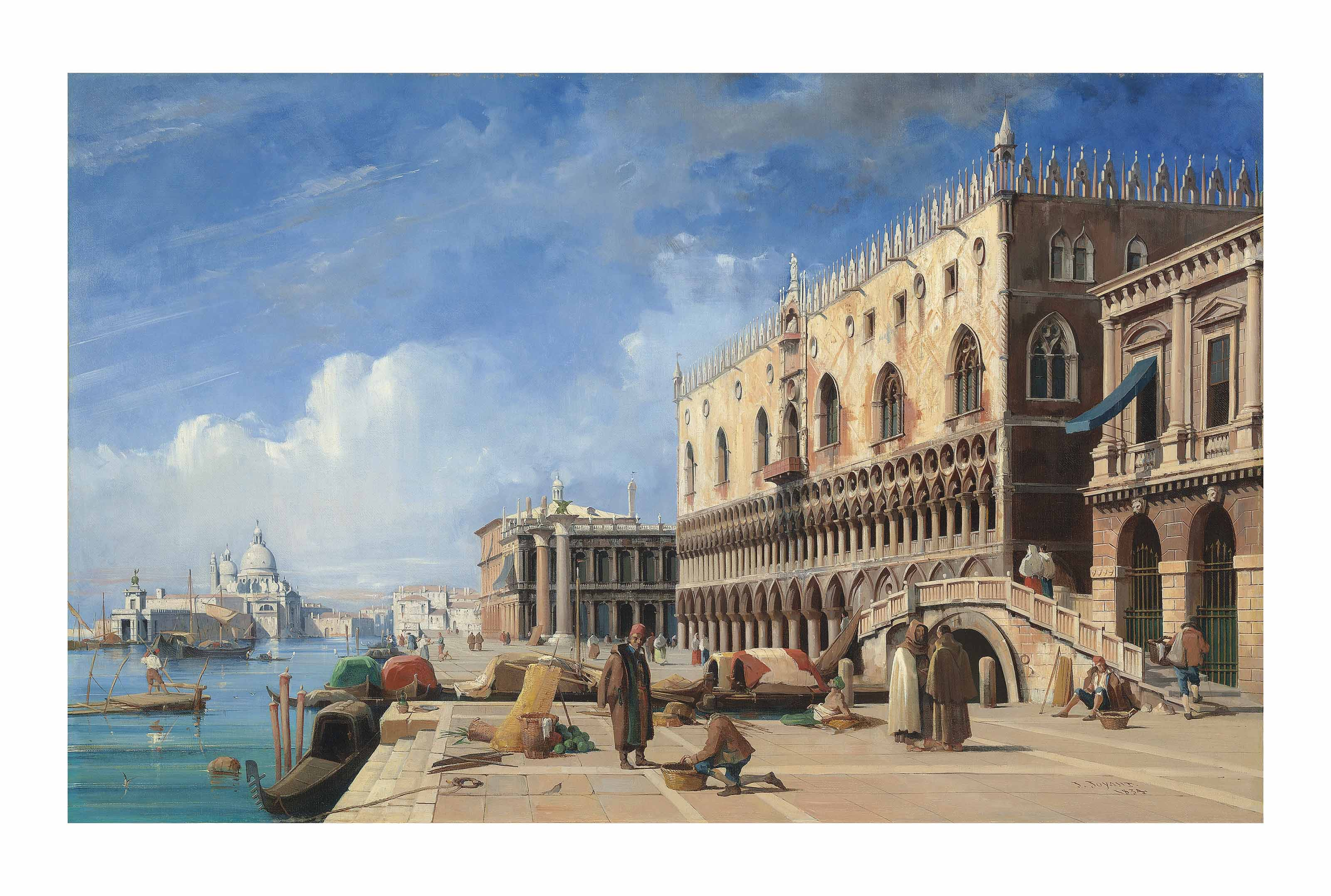 The Riva degli Schiavoni with the Doge's Palace, the Piazzetta and Santa Maria della Salute, Venice