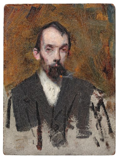 Sir Arthur Ernest Streeton (1867-1943), Portrait of Louis Abrahams. 8¼ x 6⅛ in (21 x 15.5 cm). Estimate £60,000-80,000. This lot is offered in Australian Art  on 14 December 2017  at Christie's in London