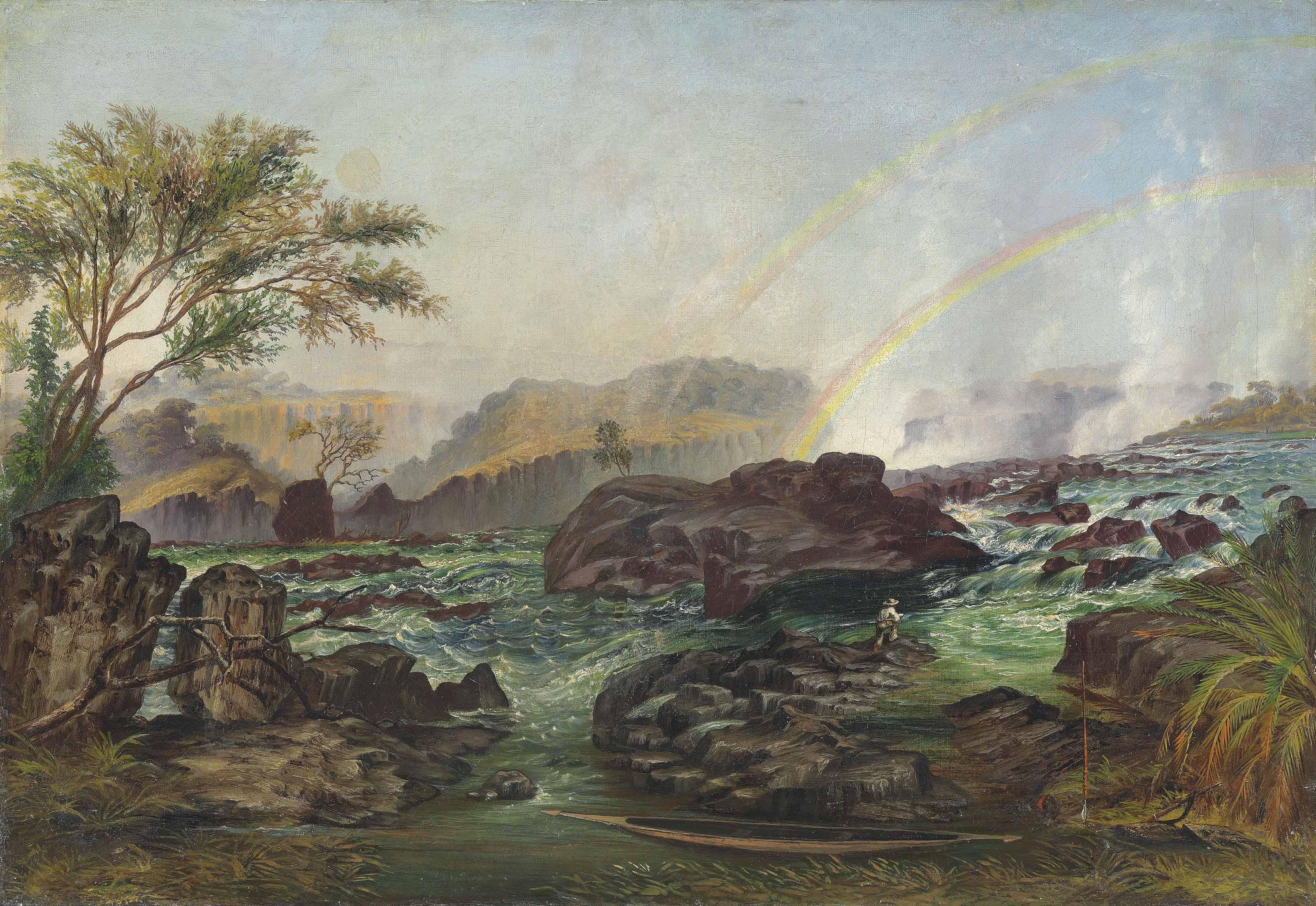 The rapids of the Victoria Falls, Zambezi River