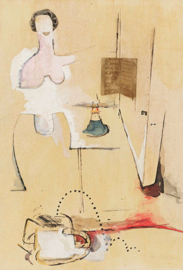 Richard Hamilton (1922-2011), Study for $he, executed in 1958. 9⅞ x 6⅞  in (25 x 17.5  cm). This lot was offered in theModern British & Irish Art Evening Sale on 22 November 2017  at Christie's in London and sold for £440,750