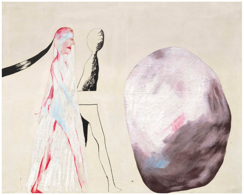 David Hockney, O.M., C.H., R.A. (b. 1937), Big Stone, painted in 1962. 48 x 60  in (122 x 152.4  cm). This lot was offered in theModern British & Irish Art Evening Sale on 22 November 2017  at Christie's in London and sold for £848,750