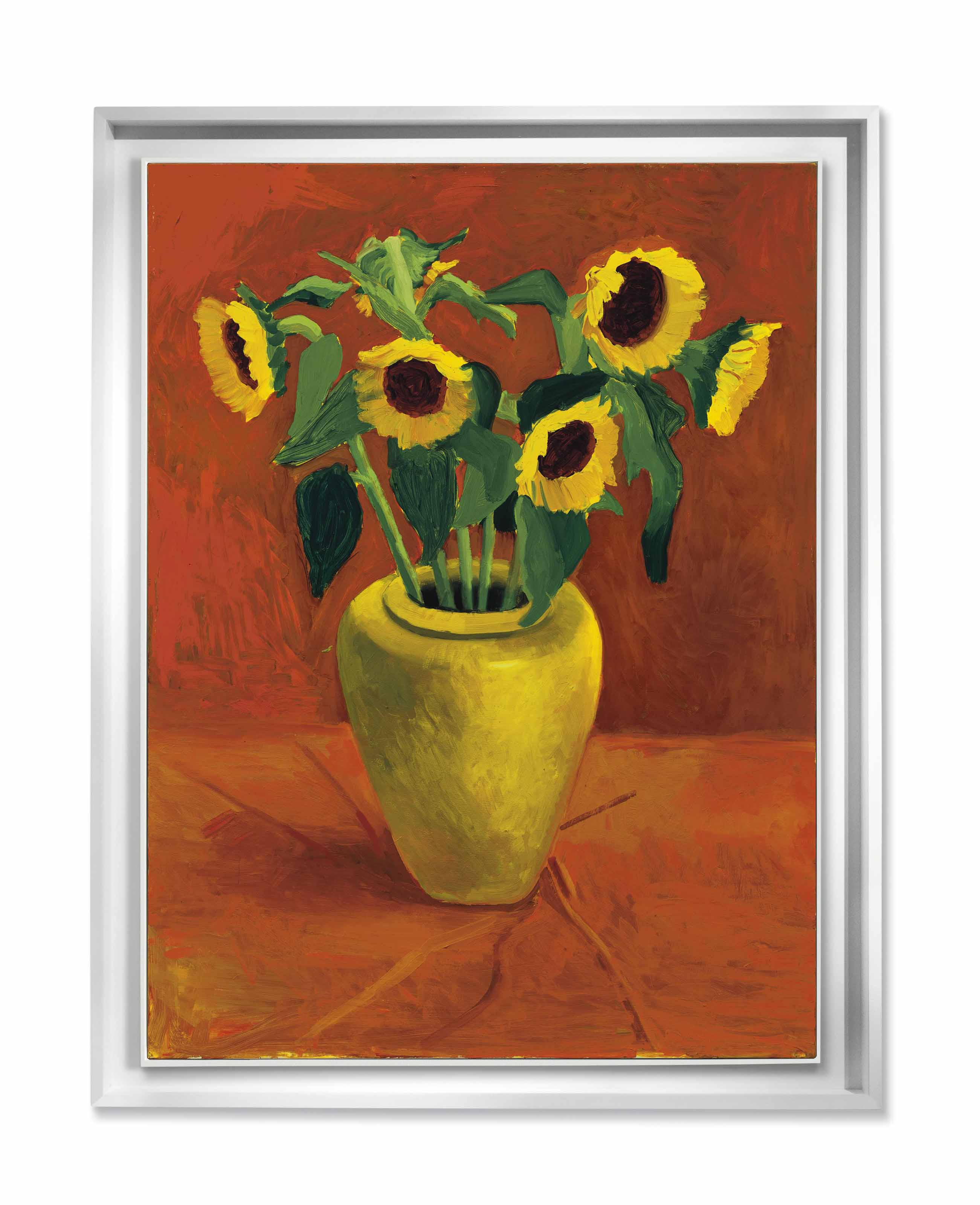 Sunflowers In a Yellow Vase