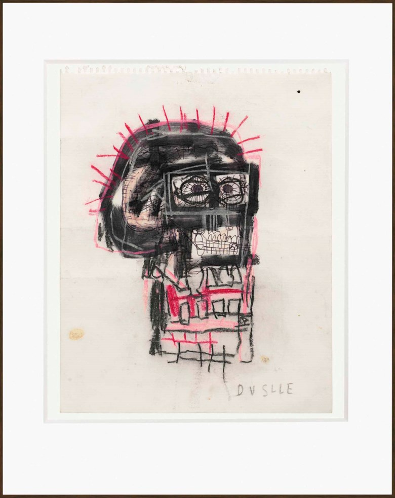 Jean-Michel Basquiat (1960-1988), Untitled, 1982. 14 x 11 in (35.6 x 27.9 cm). Estimate £500,000-700,000. This lot is offered in Post-War and Contemporary Art Evening Auction on 6 October 2017  at Christie's in London