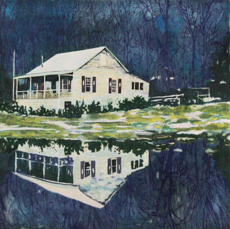 Peter Doig (b. 1959), Camp Forestia, 1996. 67 x 67 in (170 x 170 cm). Estimate £14,000,000-18,000,000. This lot is offered in Post-War and Contemporary Art Evening Auction on 6 October 2017  at Christie's in London