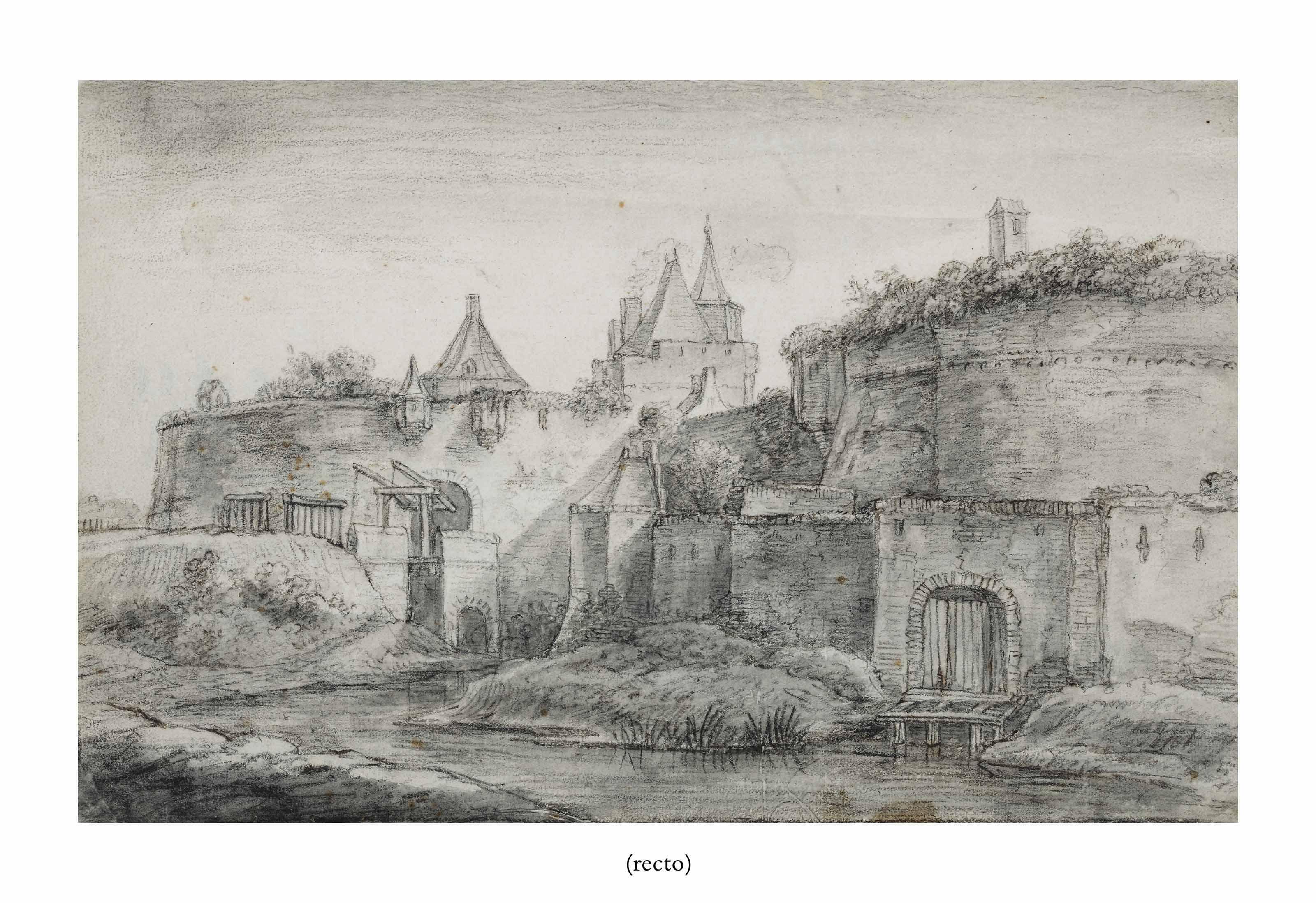 The Sint Janspoort, Arnhem (recto); The outskirts of Arnhem (?) (verso)