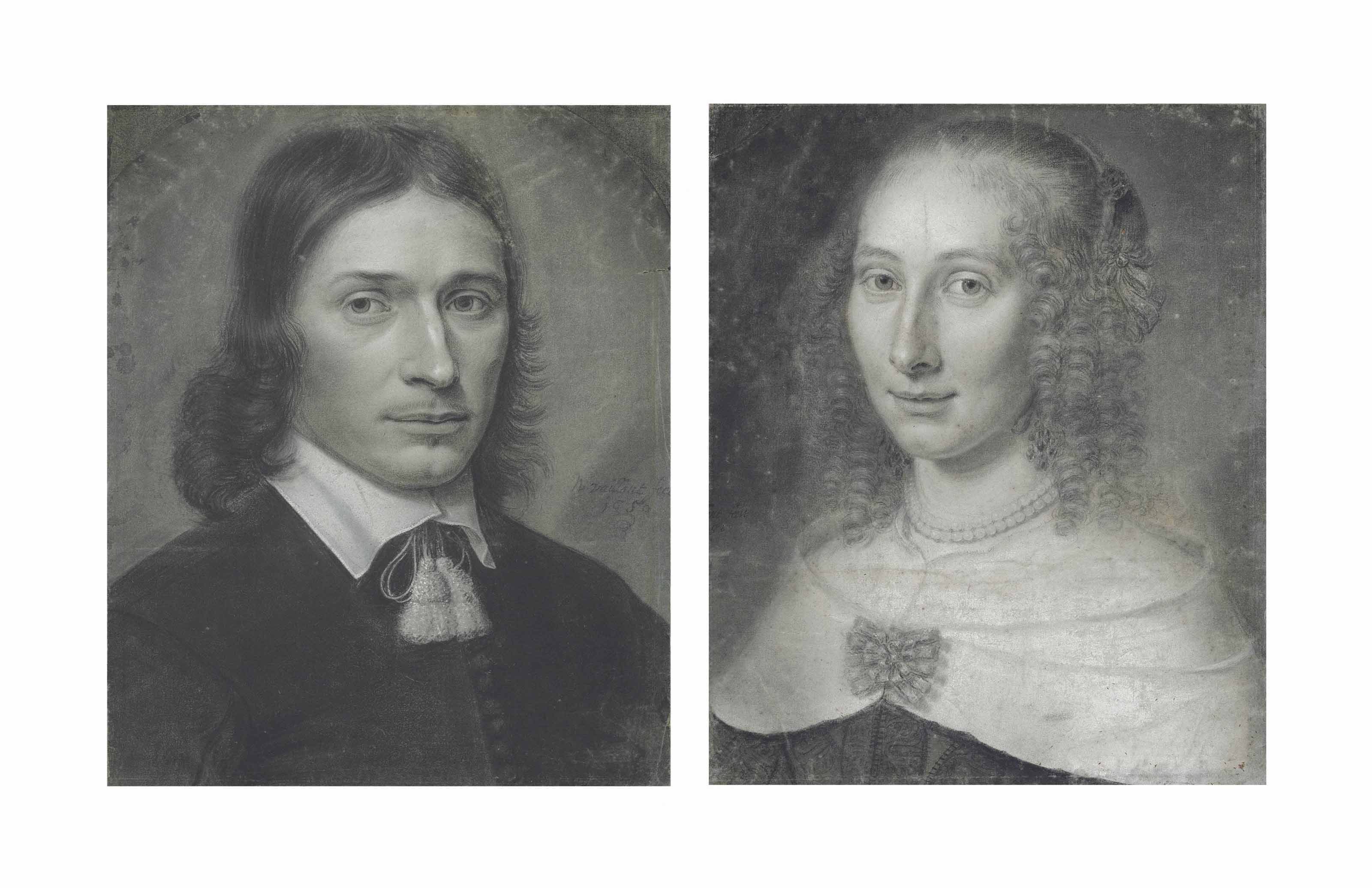 Portrait of a gentleman and a lady