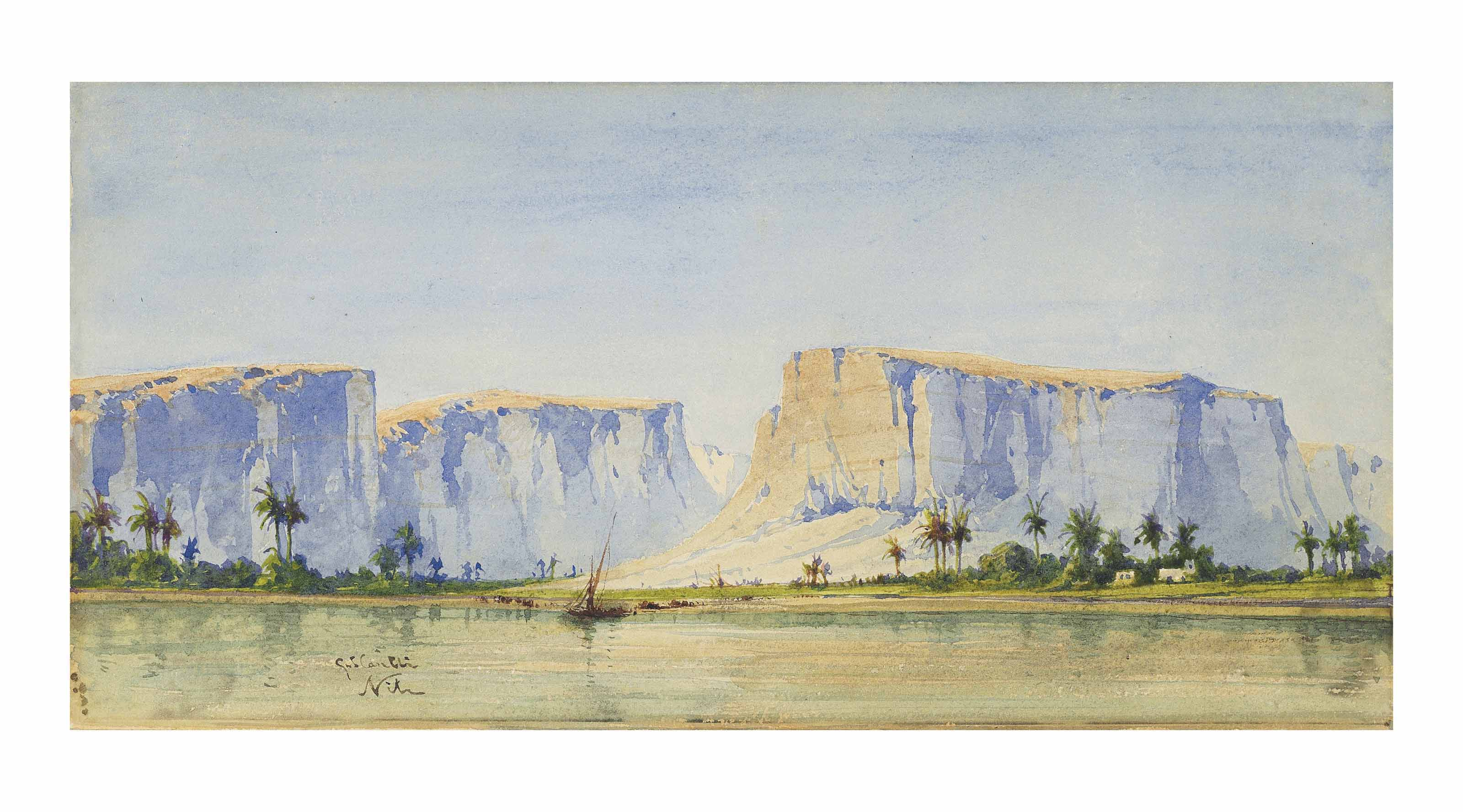 A view of the river Nile near Qena, Egypt