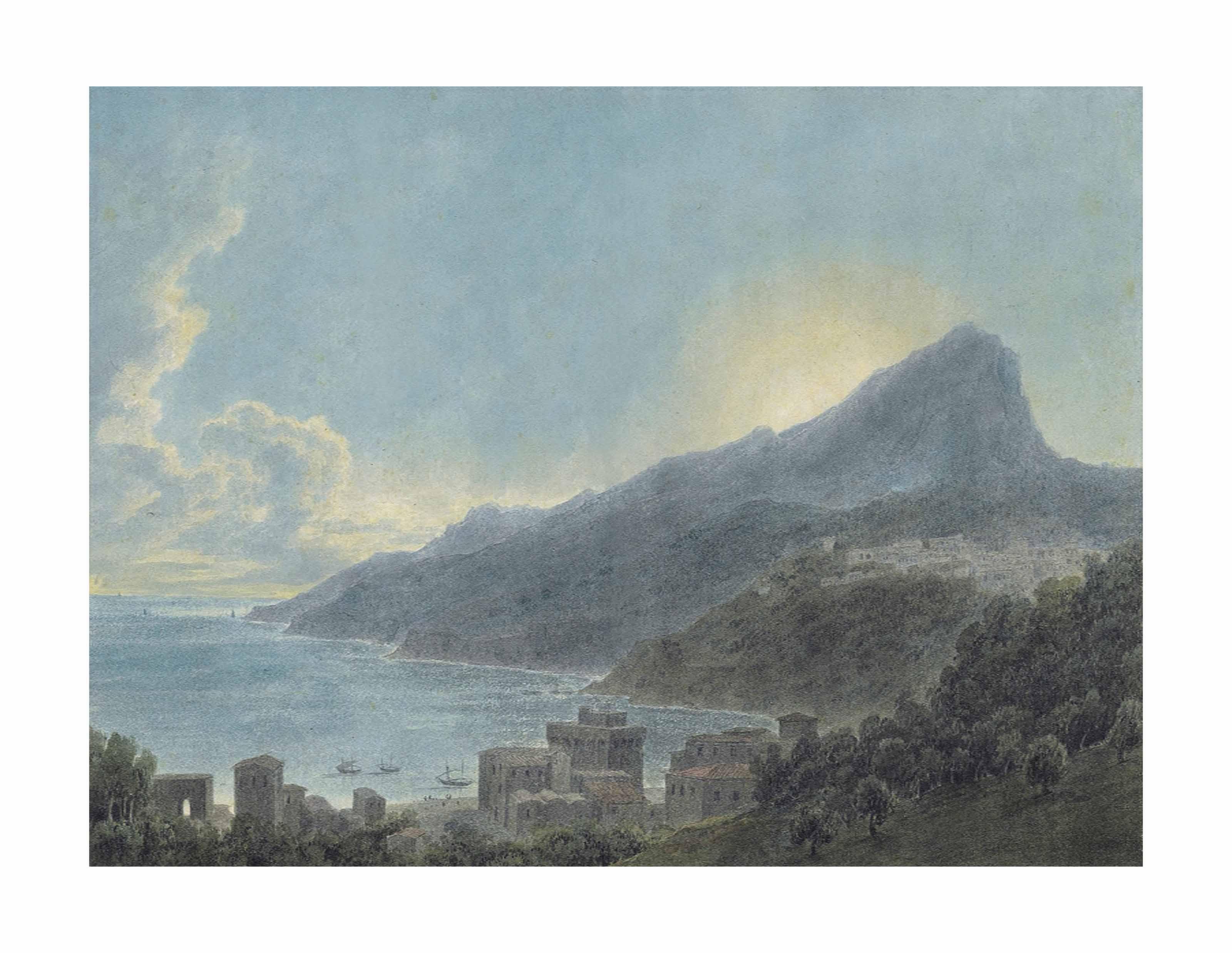 View of Vietri and Raito, Italy