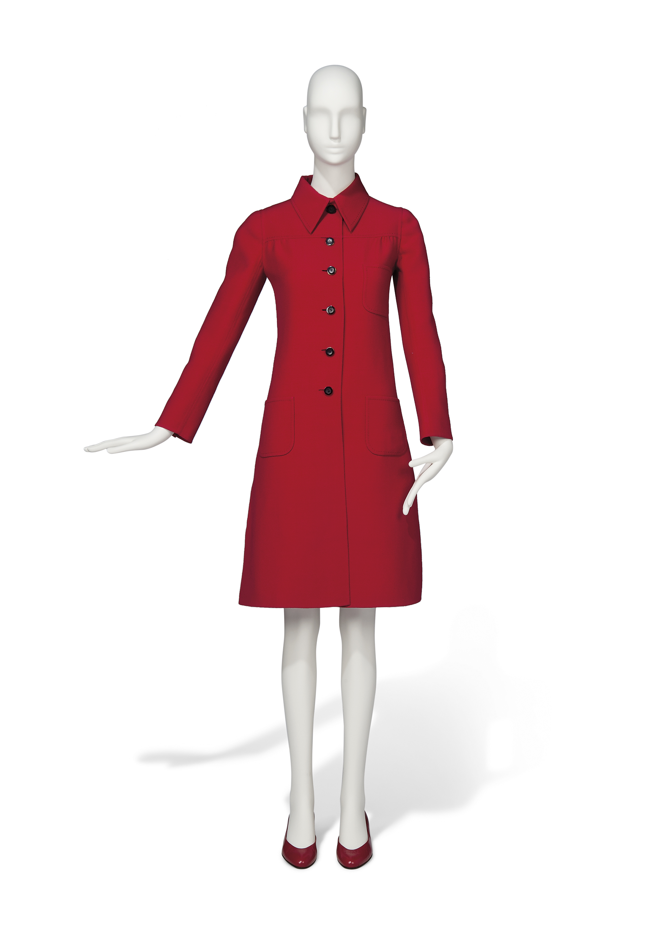 A RED DRESS COAT