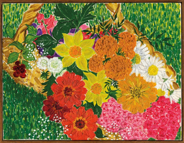 Audrey Hepburn (1929-1993), My Garden Flowers, painted in 1969. 14 x 10½  in (35 x 27  cm). Sold for £224,750 on 27 September 2017  at Christie's in London