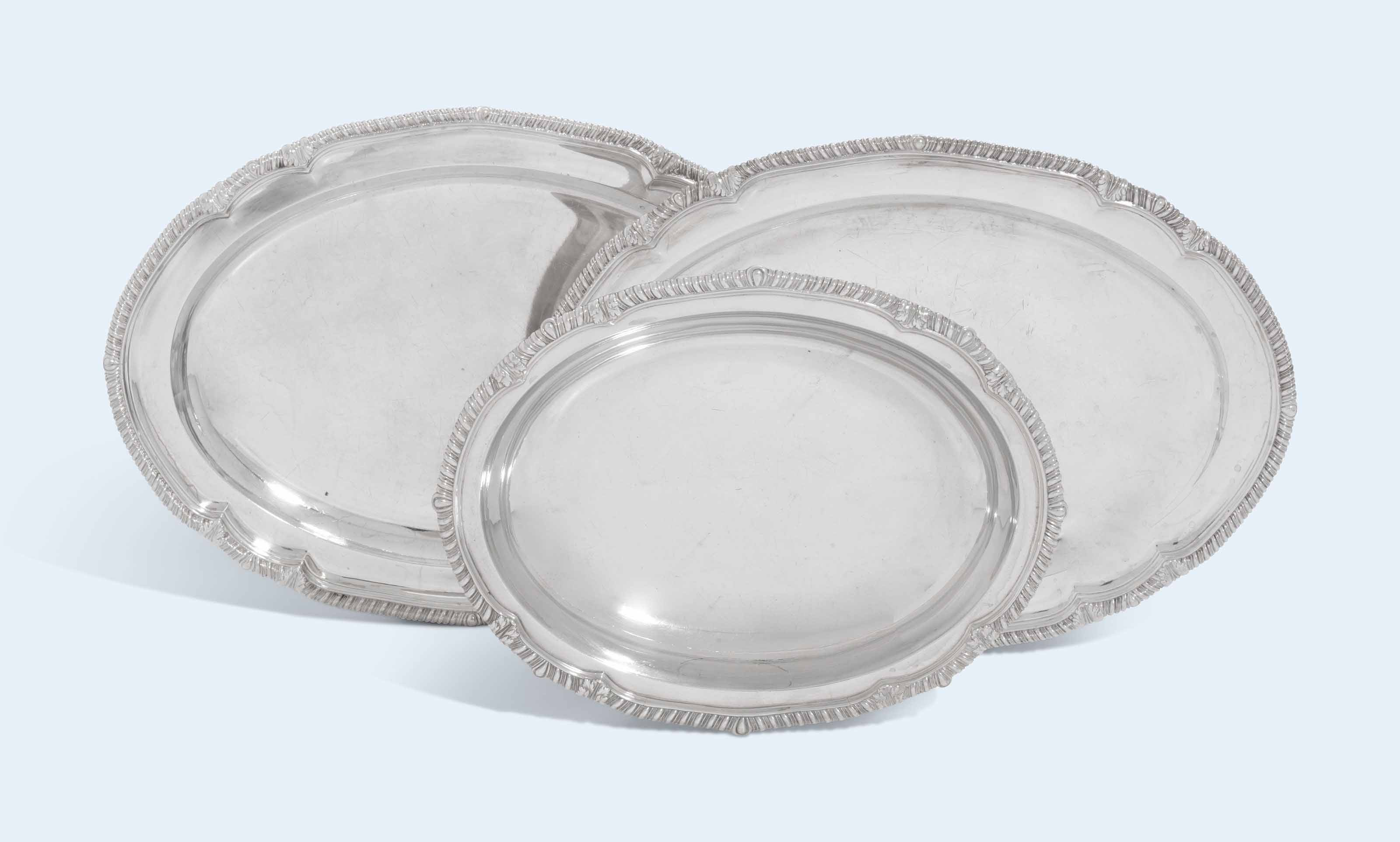 A PAIR OF GEORGE III SILVER ME