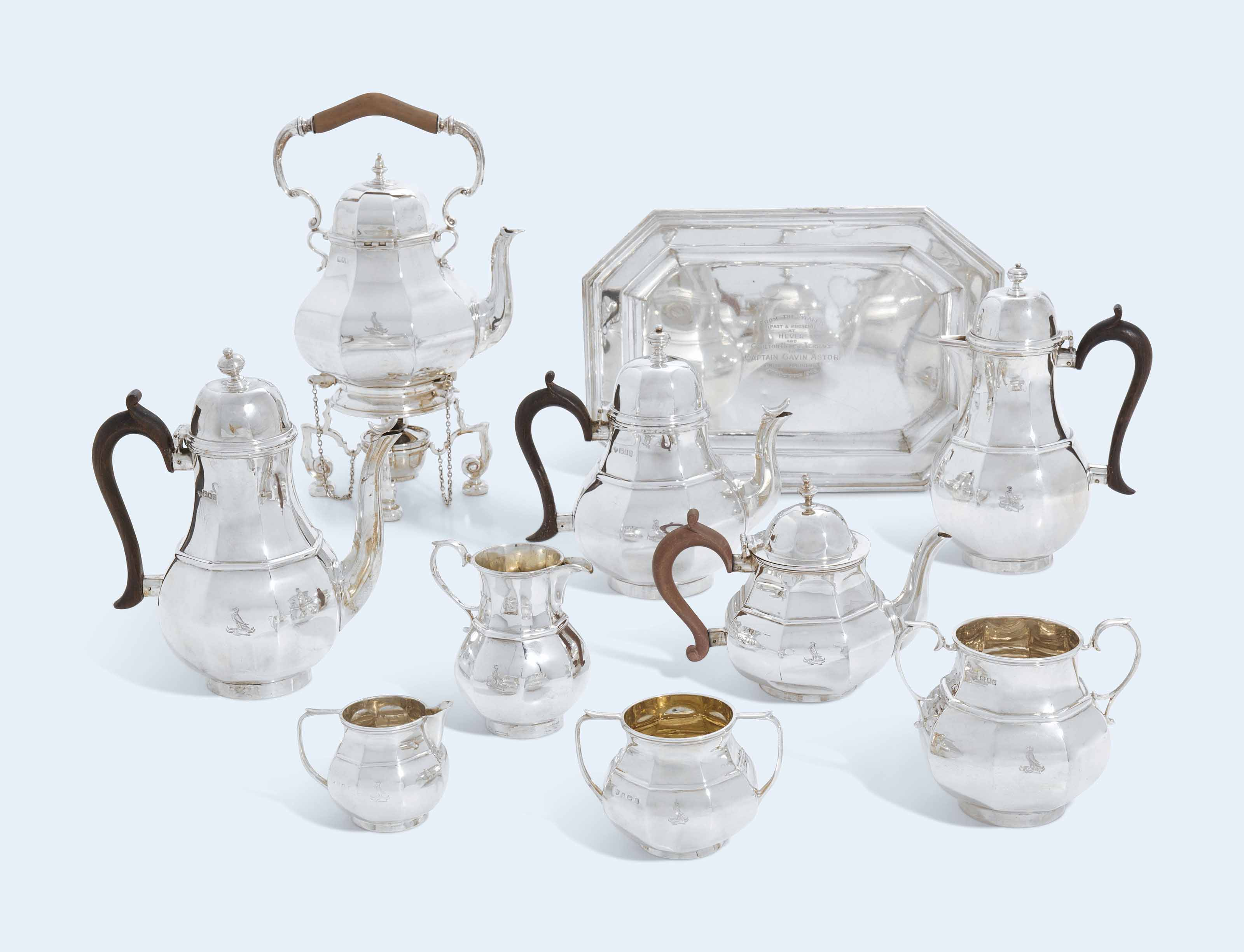 A SIX-PIECE VICTORIAN AND GEOR
