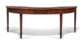 A GEORGE III MAHOGANY AND CROSSBANDED HUNT TABLE