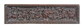 A NORTH EUROPEAN CARVED OAK PANEL