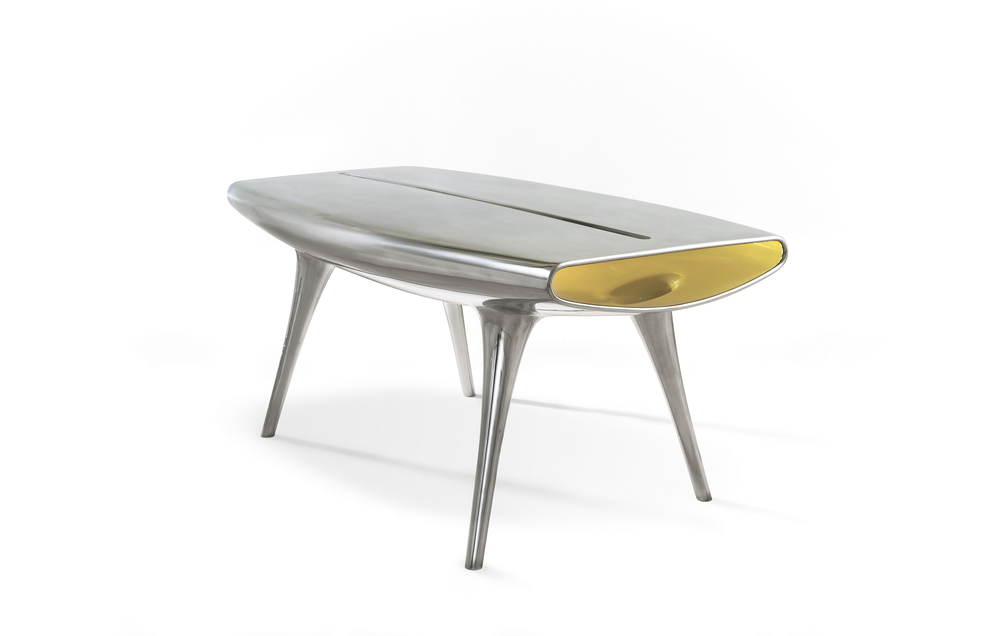 Marc Newson (b. 1963), Event Horizon Table. 31¾ x 71 x 38  in (80.5 x 180 x 96.5  cm). Estimate £100,000-150,000. This lot is offered in Masterpieces of Design & Photography on 3 October 2017  at Christie's in London