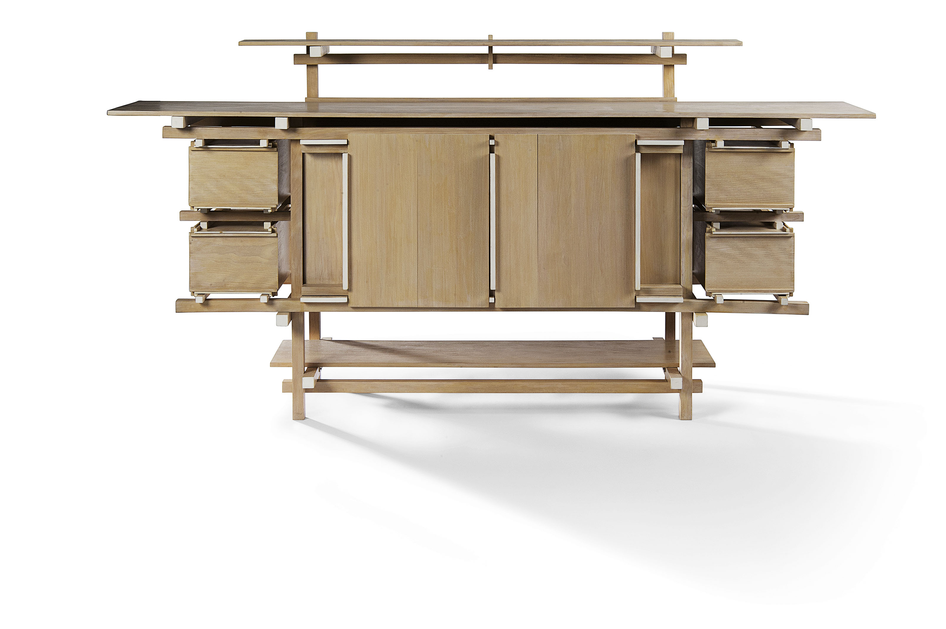 Gerrit Thomas Rietveld (1888-1964), A rare Elling sideboard. 41 x 78¾ x 17¾  in (104 x 200 x 45  cm). Estimate £60,000-90,000. This lot is offered in Masterpieces of Design & Photography on 3 October 2017  at Christie's in London