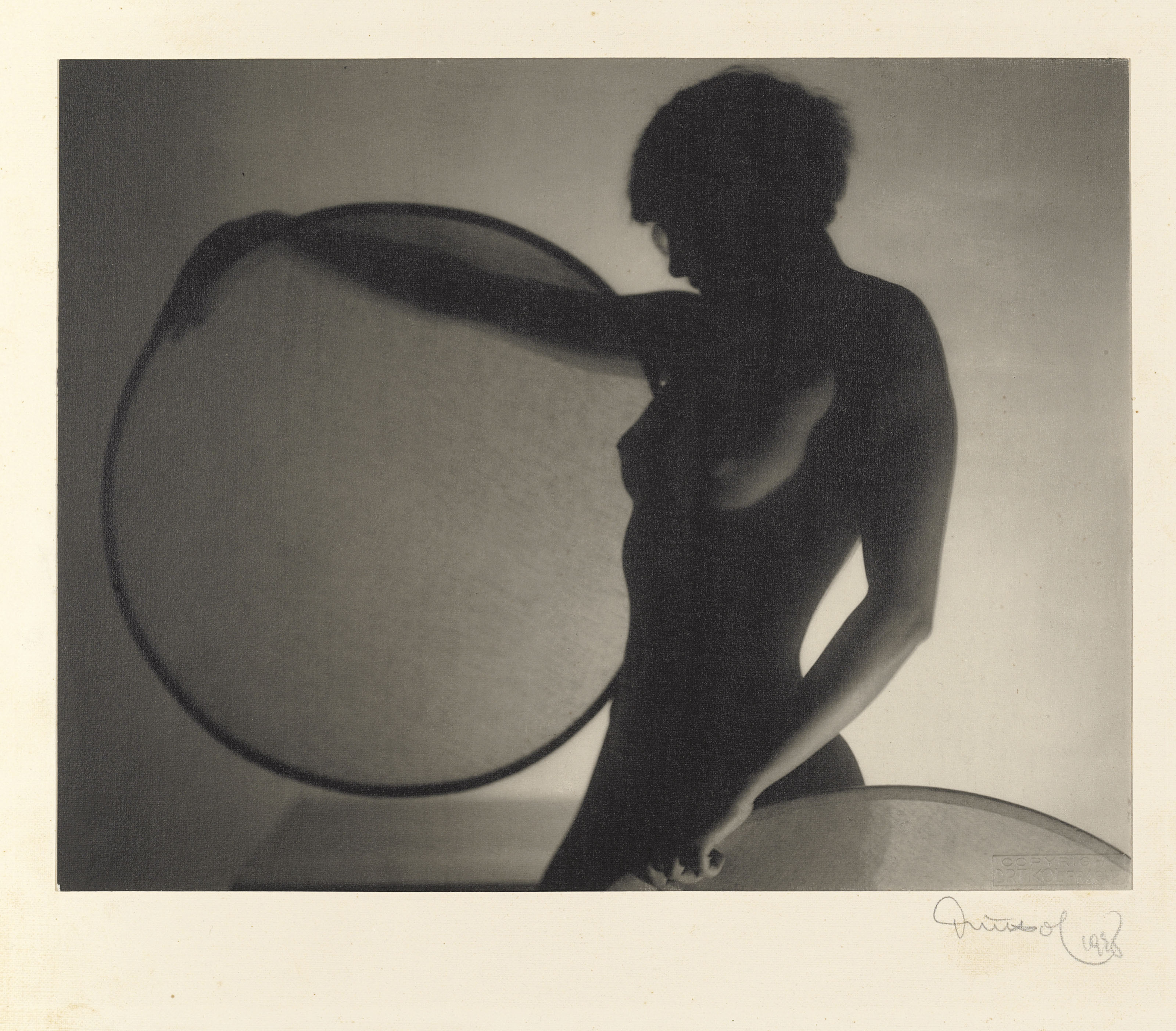 Nude with Circles