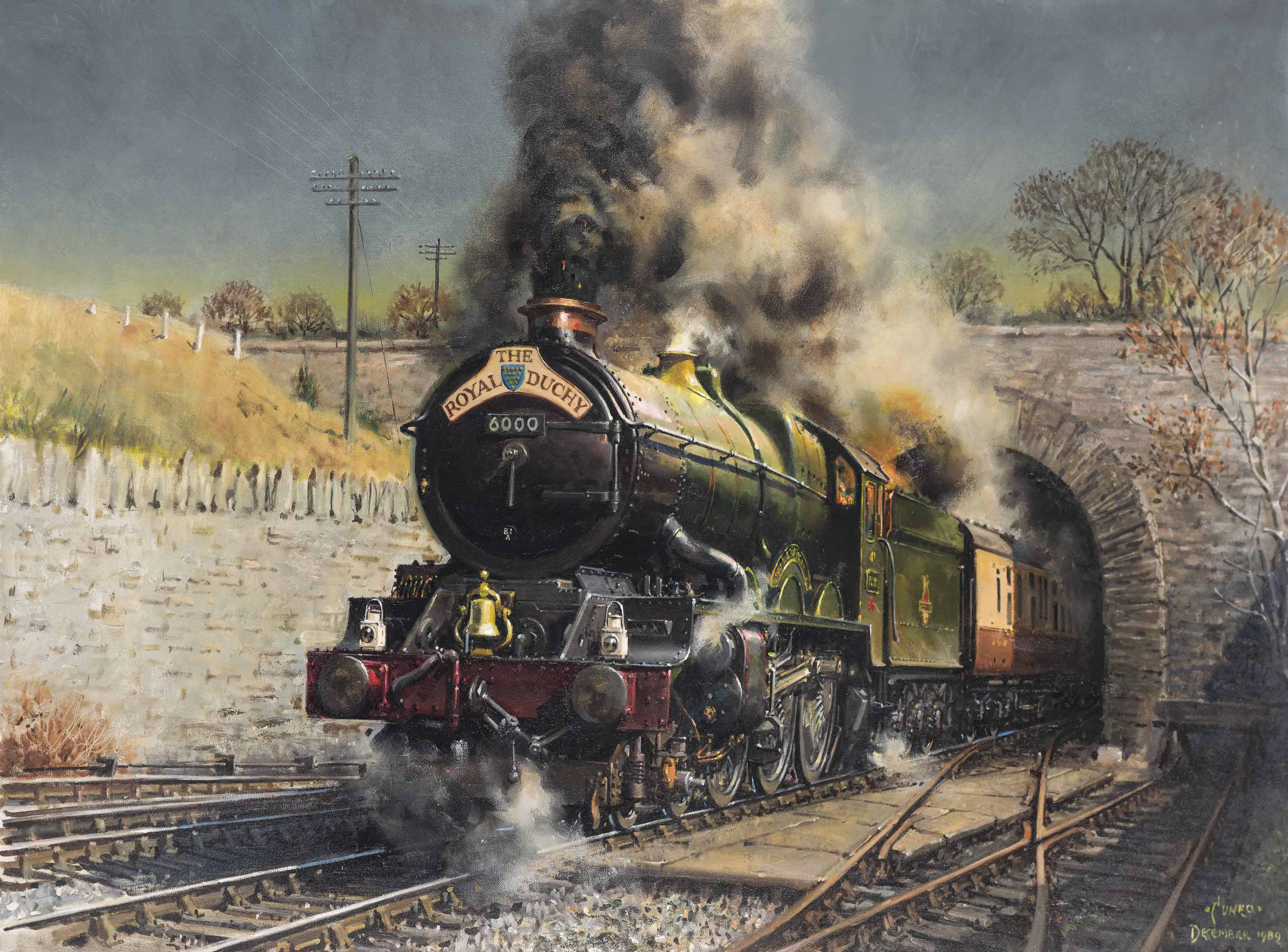 The Royal Duchy: King George V storms up the grade out of Dainton Tunnel
