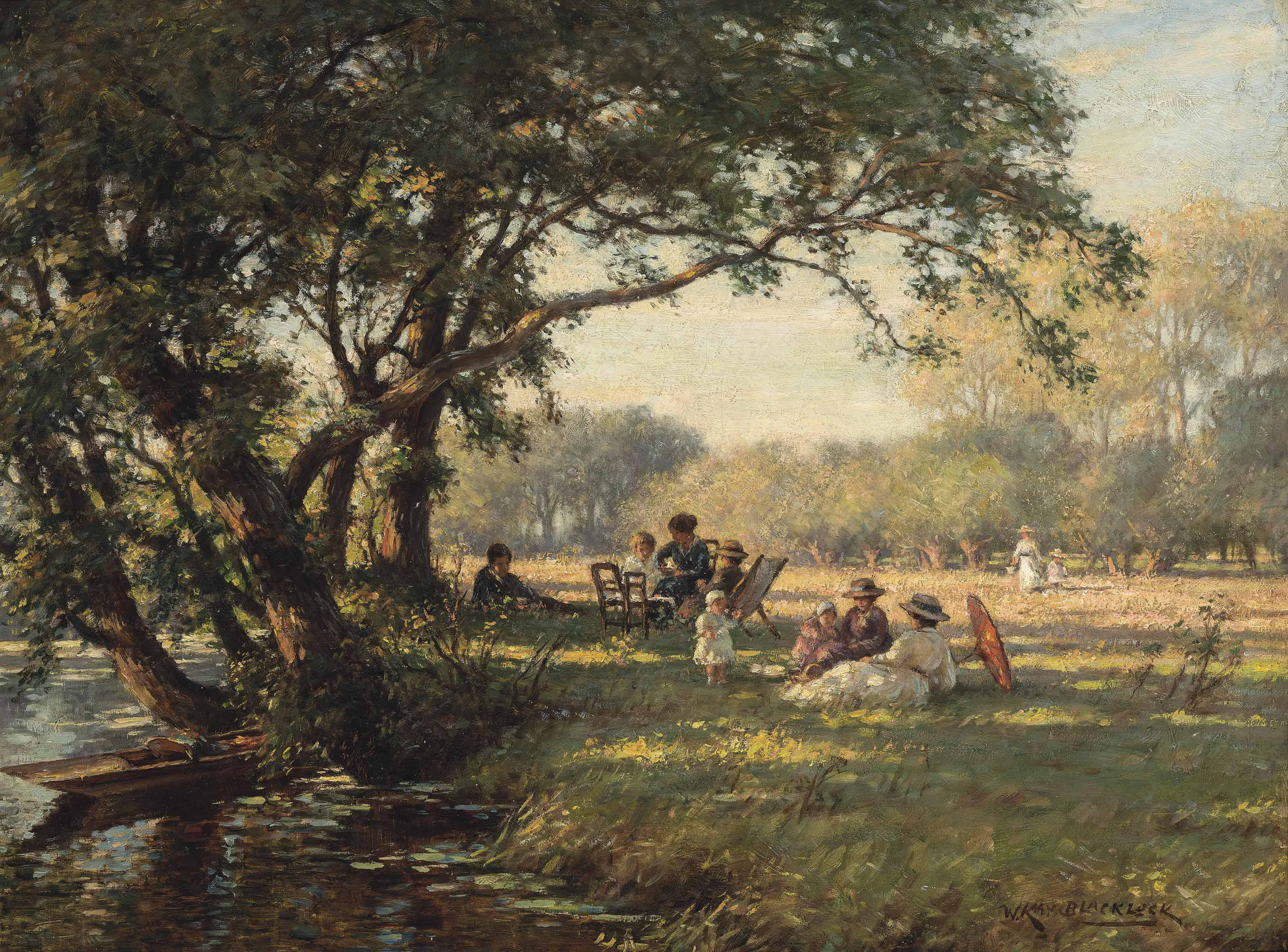 A picnic by the river Ouse