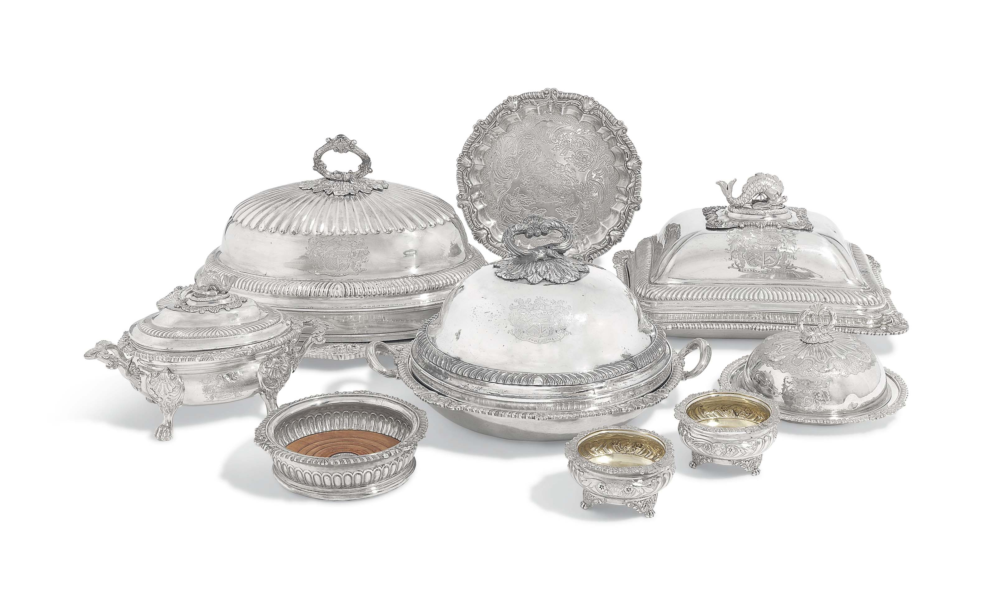 SILVER FROM THE LANGSTON DINNER-SERVICE A GEORGE III SILVER PART DINNER-SERVICE