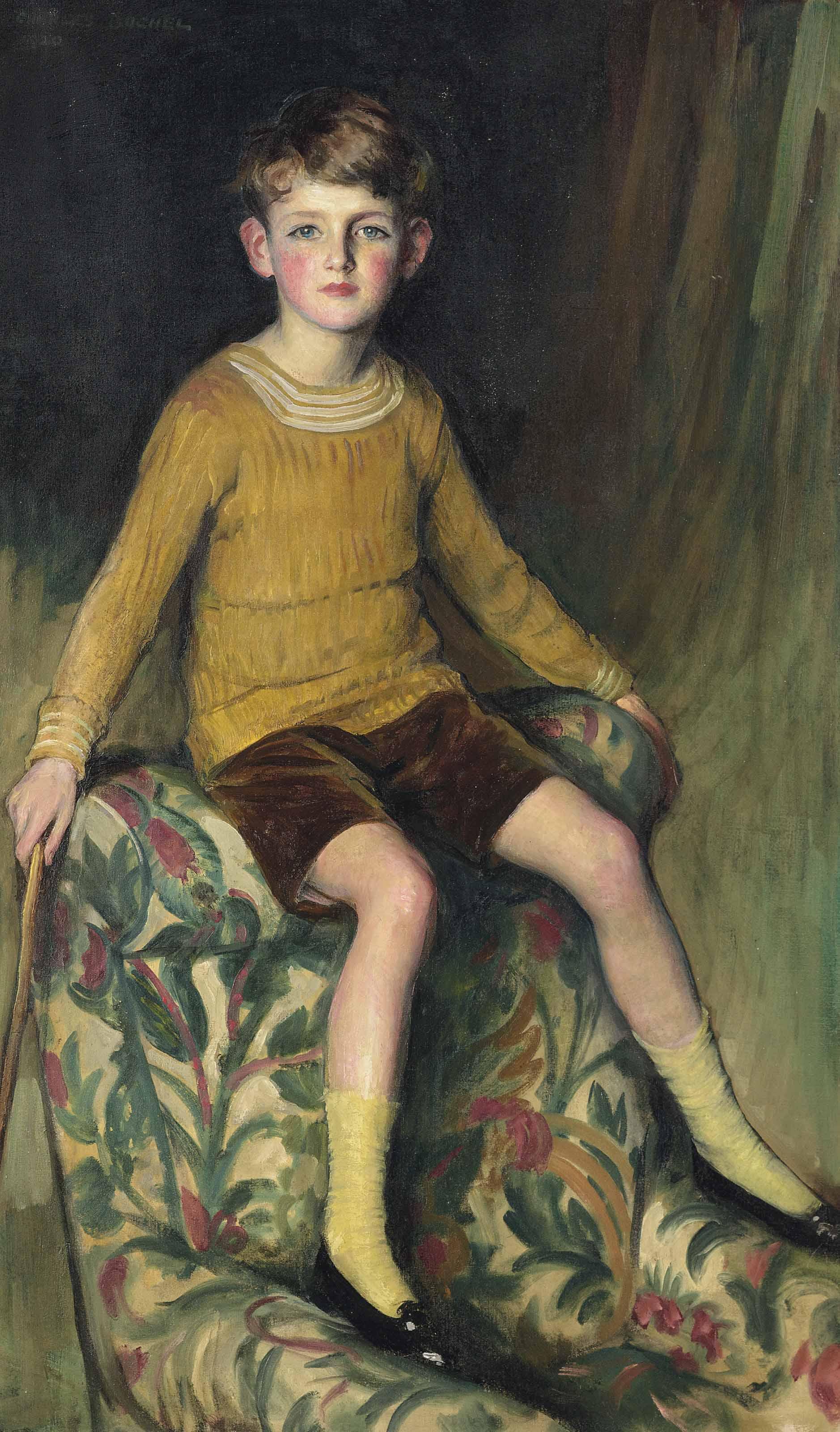 Portrait of the artist's son, Philip Buchel