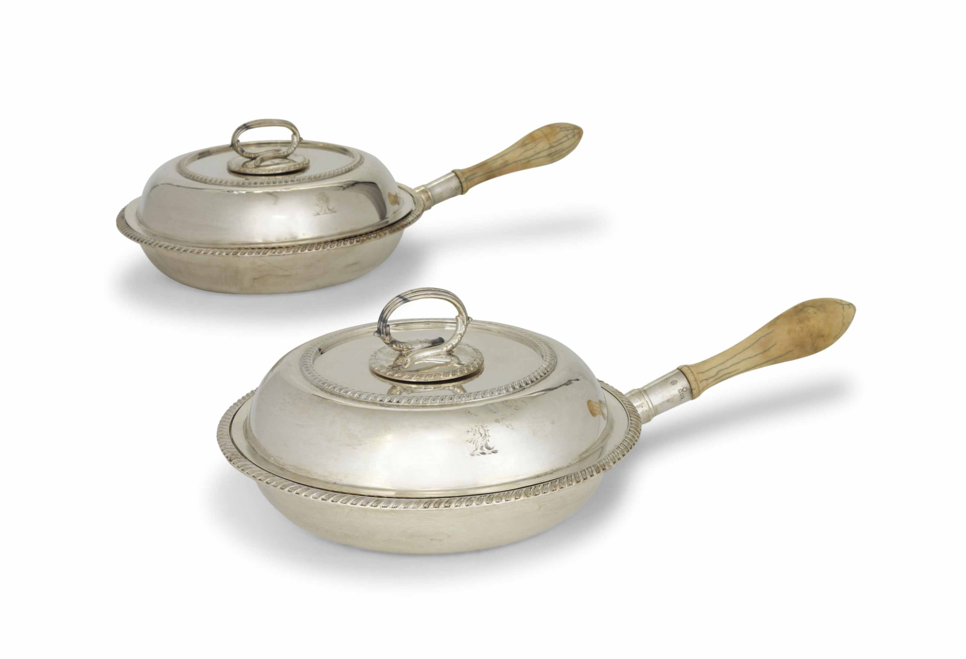 A PAIR OF VICTORIAN SILVER VEGETABLE DISHES AND COVERS