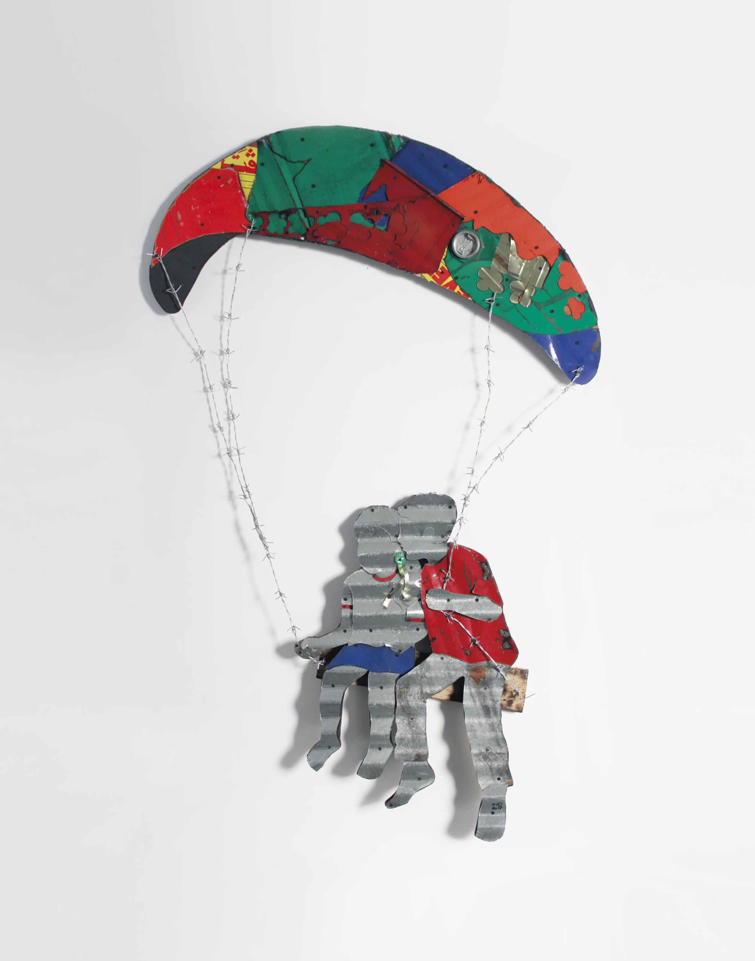 Boy & Girl on Parachute