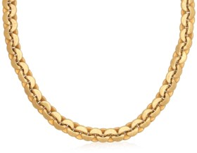 BUCCELLATI TEXTURED GOLD LONG CHAIN NECKLACE