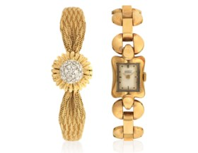GROUP OF LADY'S GOLD WATCHES