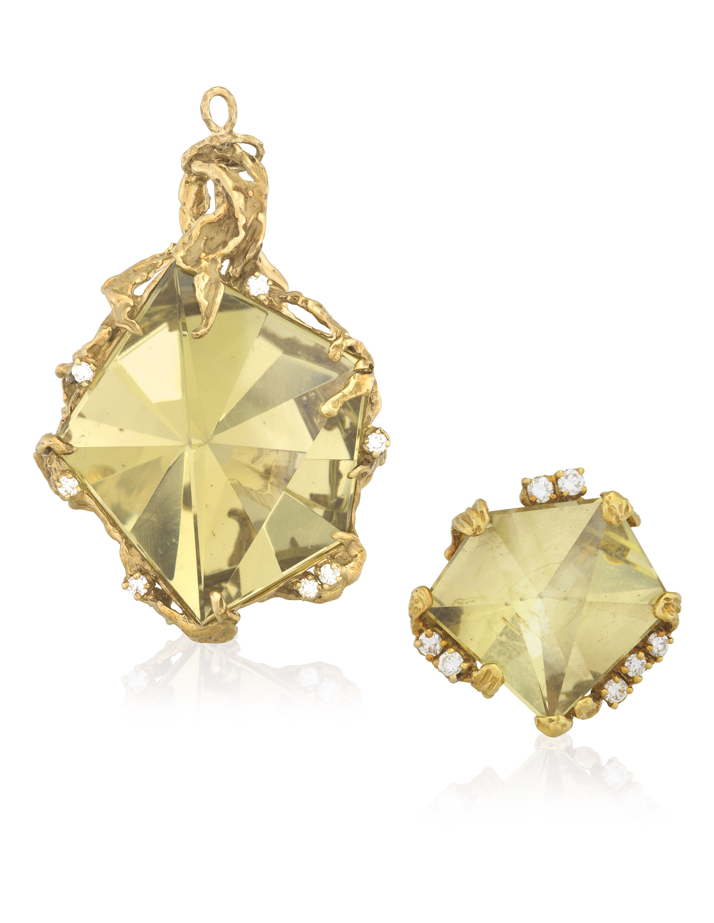ARTHUR KING SET OF CITRINE AND