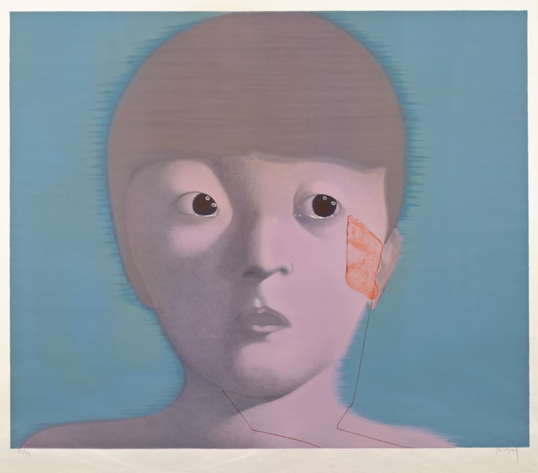 Zhang Xiaogang (China, b. 1958), My Memory No. 1. Lithograph, image 104 x 124 cm (41 x 48⅞ in). Paper 115.5 x 131.5 cm (45½ x 51¾ in). Estimate $5,000-7,000. This lot is offered in Asian 20th Century and Contemporary Art Online PaperEditions on 22-29 May 2017