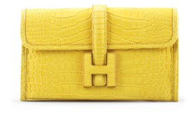 A MATTE MIMOSA ALLIGATOR JIGE DUO CLUTCH BAG