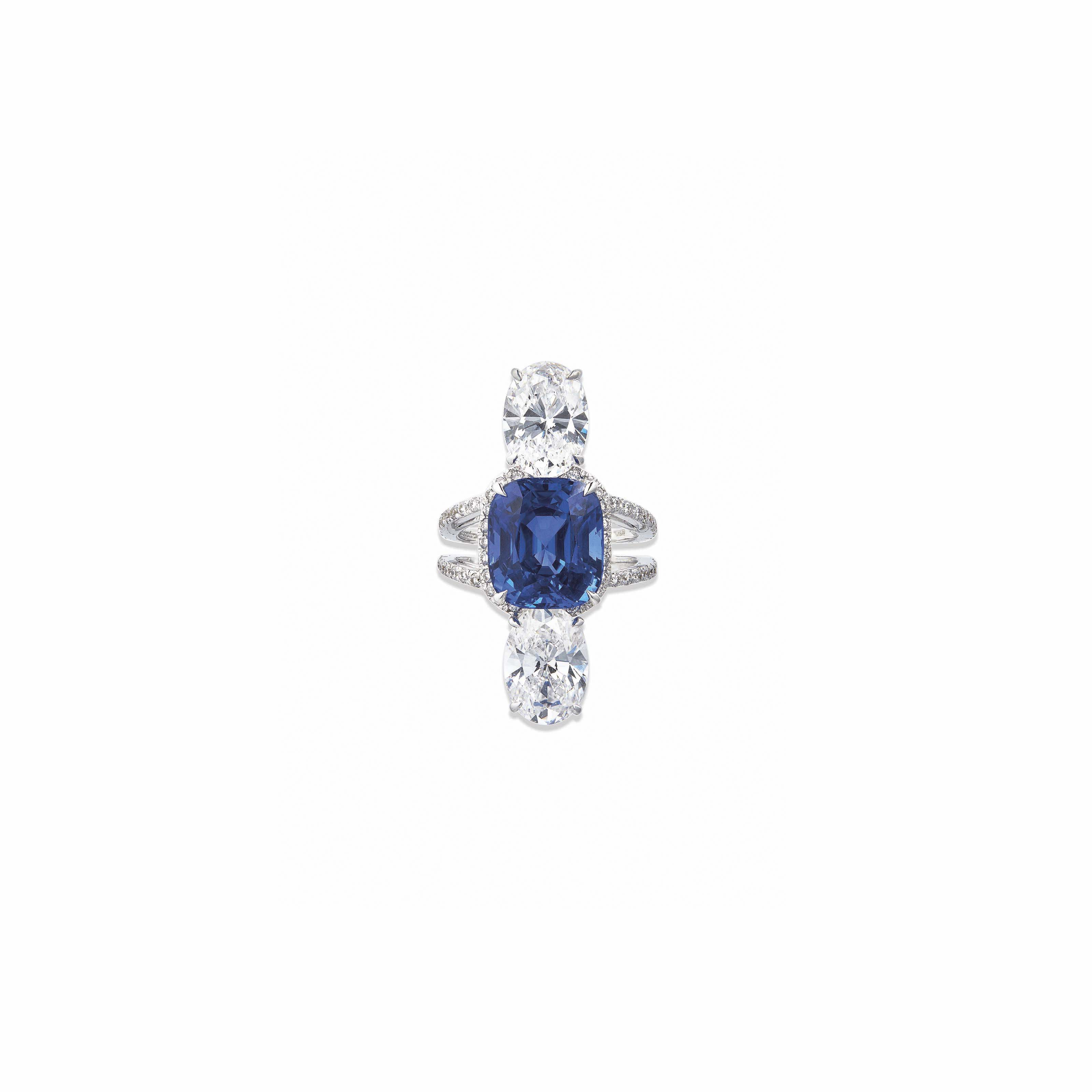 A SAPPHIRE AND DIAMOND RING, BY SABBADINI