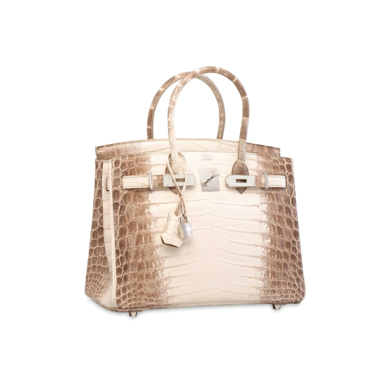 An exceptional, matte white Himalaya niloticus crocodile diamond Birkin 30 with 18k white gold & diamond hardware. Hermès, 2014. Sold for HKD 2,940,000 on 31 May 2017 at Christie's in Hong Kong