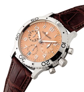 BREGUET A RARE PLATINUM LIMITED EDITION AUTOMATIC FLYBACK CHRONOGRAPH WRISTWATCH
