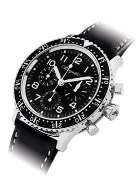BREGUET A FINE STAINLESS STEEL LIMITED EDITION AUTOMATIC FLYBACK CHRONOGRAPH WRI