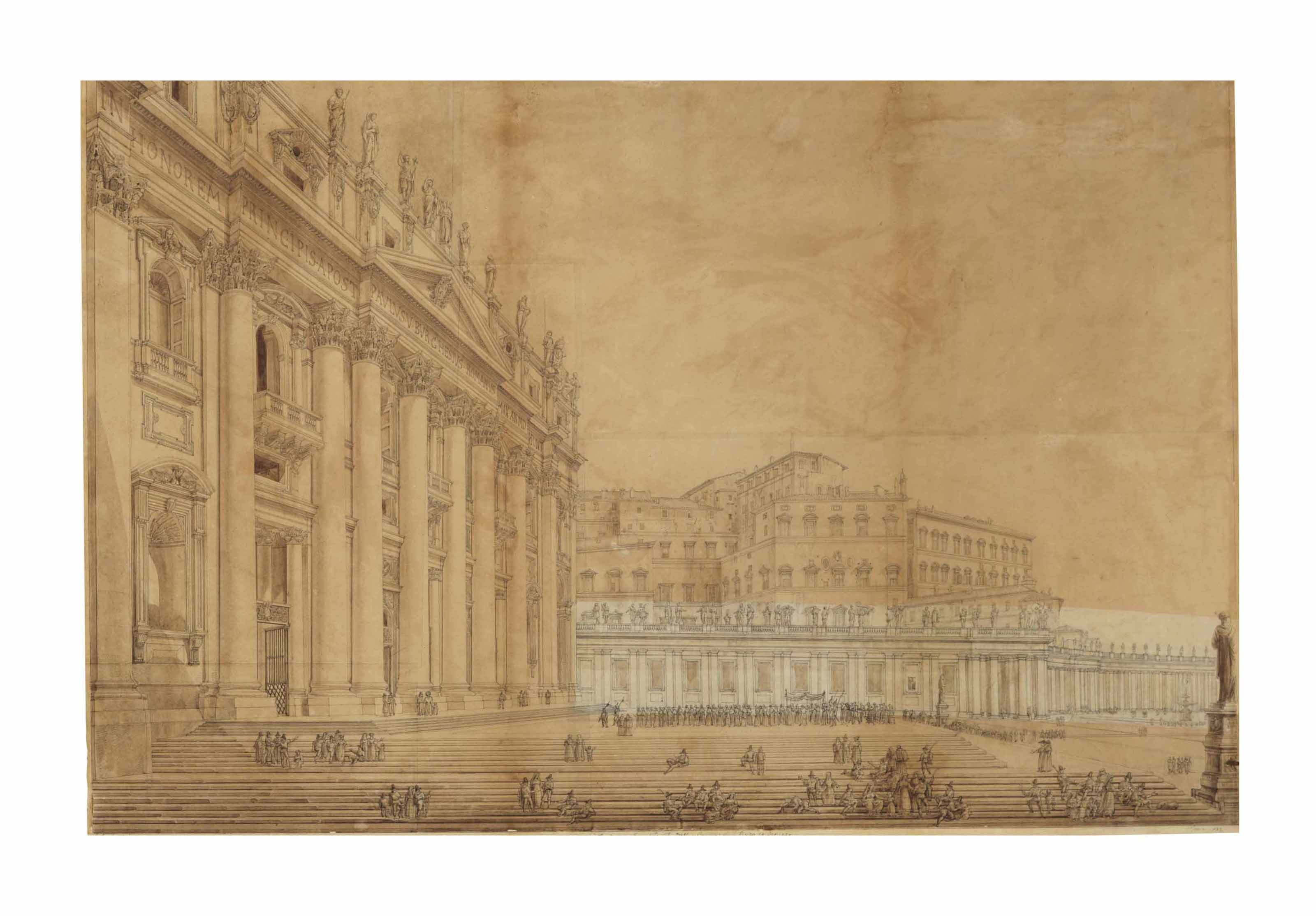 View of Saint Peter and the Apostolic Palace at the Vatican