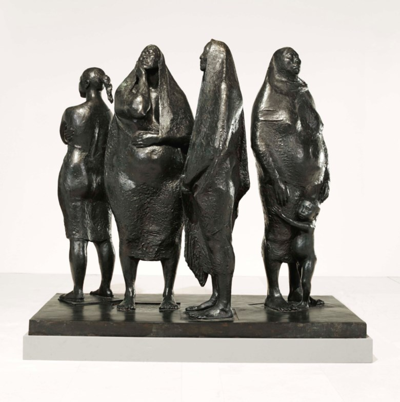 Francisco Zúñiga (1912-1998), Grupo de cuatro mujeres de pie, 1974. Bronze. 80 x 86½ x 45⅛in (203.2 x 220 x 115 cm). Edition two of three. Estimate $1,500,000-2,500,000. This work is offered in the Latin American Art sale on 24-25 May at Christies in New York