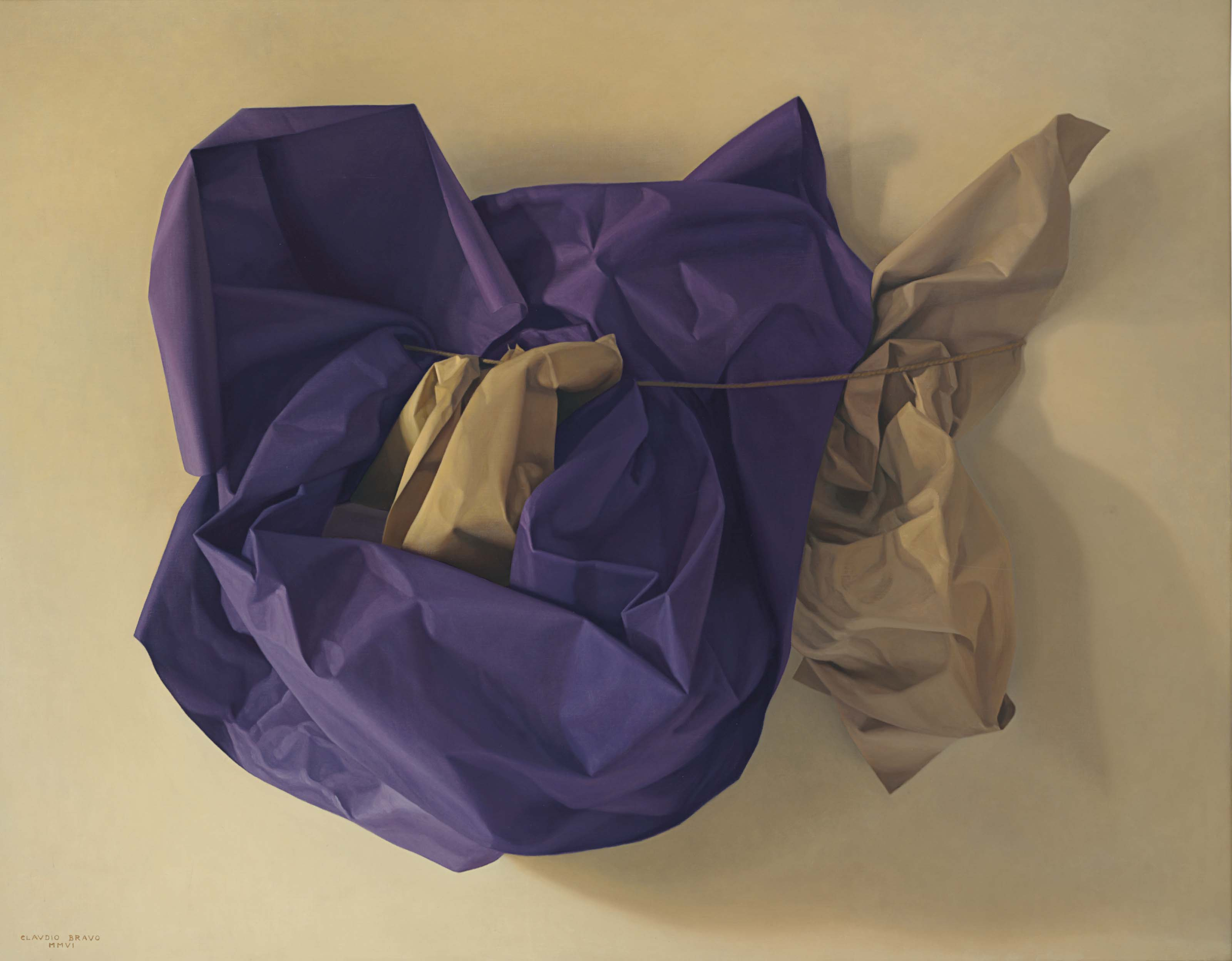 Purple and Beige Paper