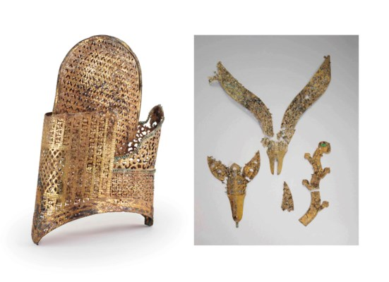 A group of gilt-bronze fragments