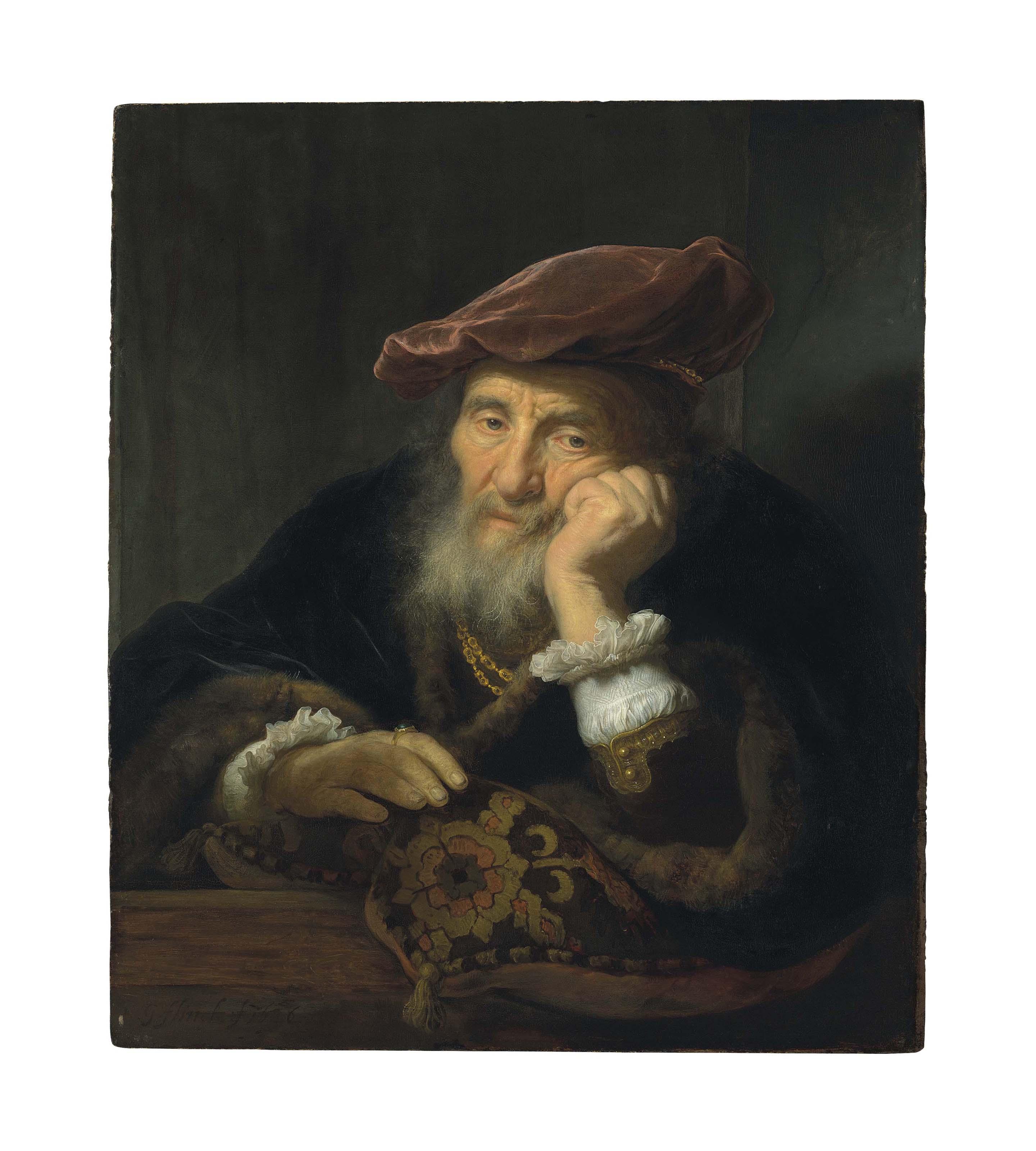 An old man at a casement