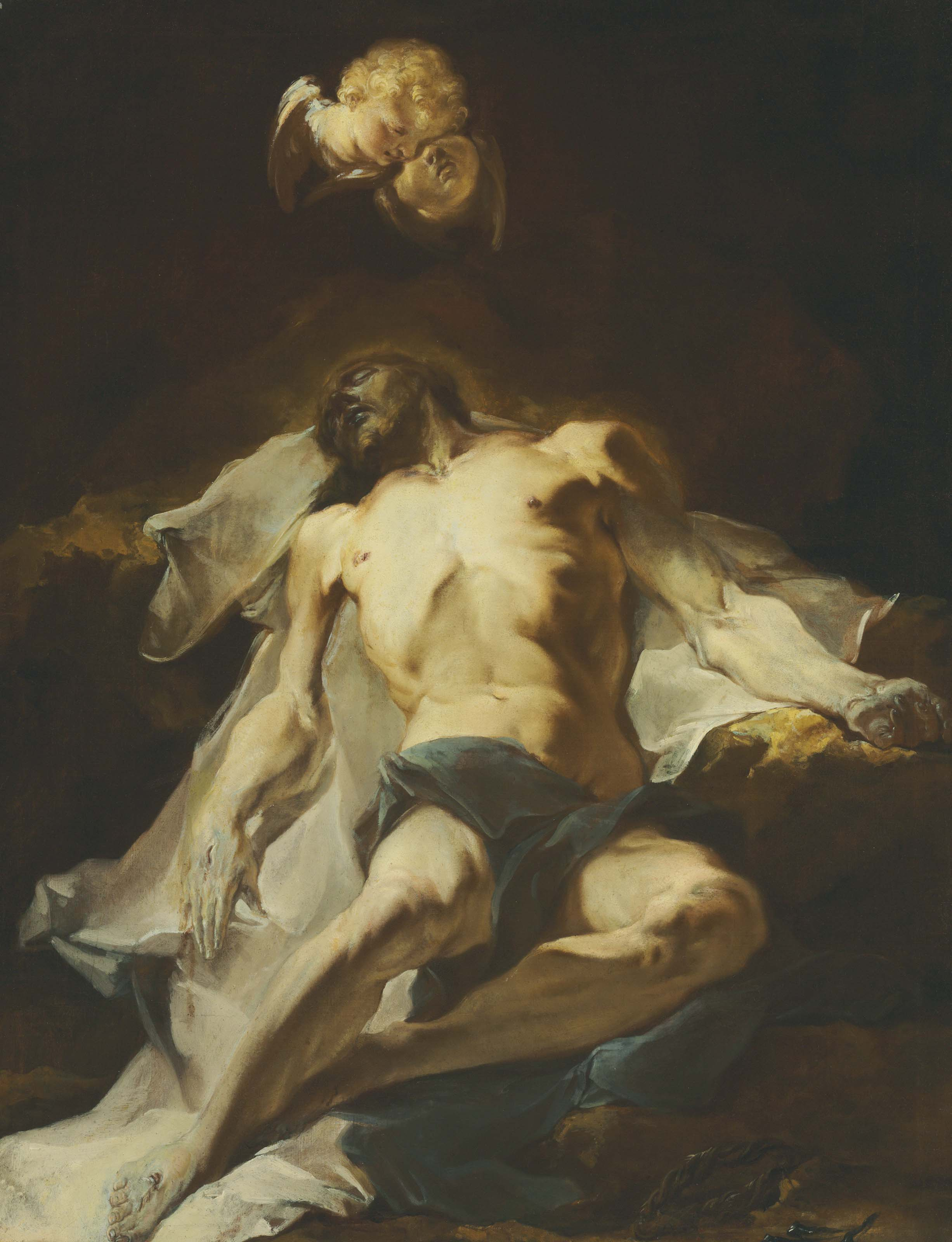 Christ mourned by seraphim