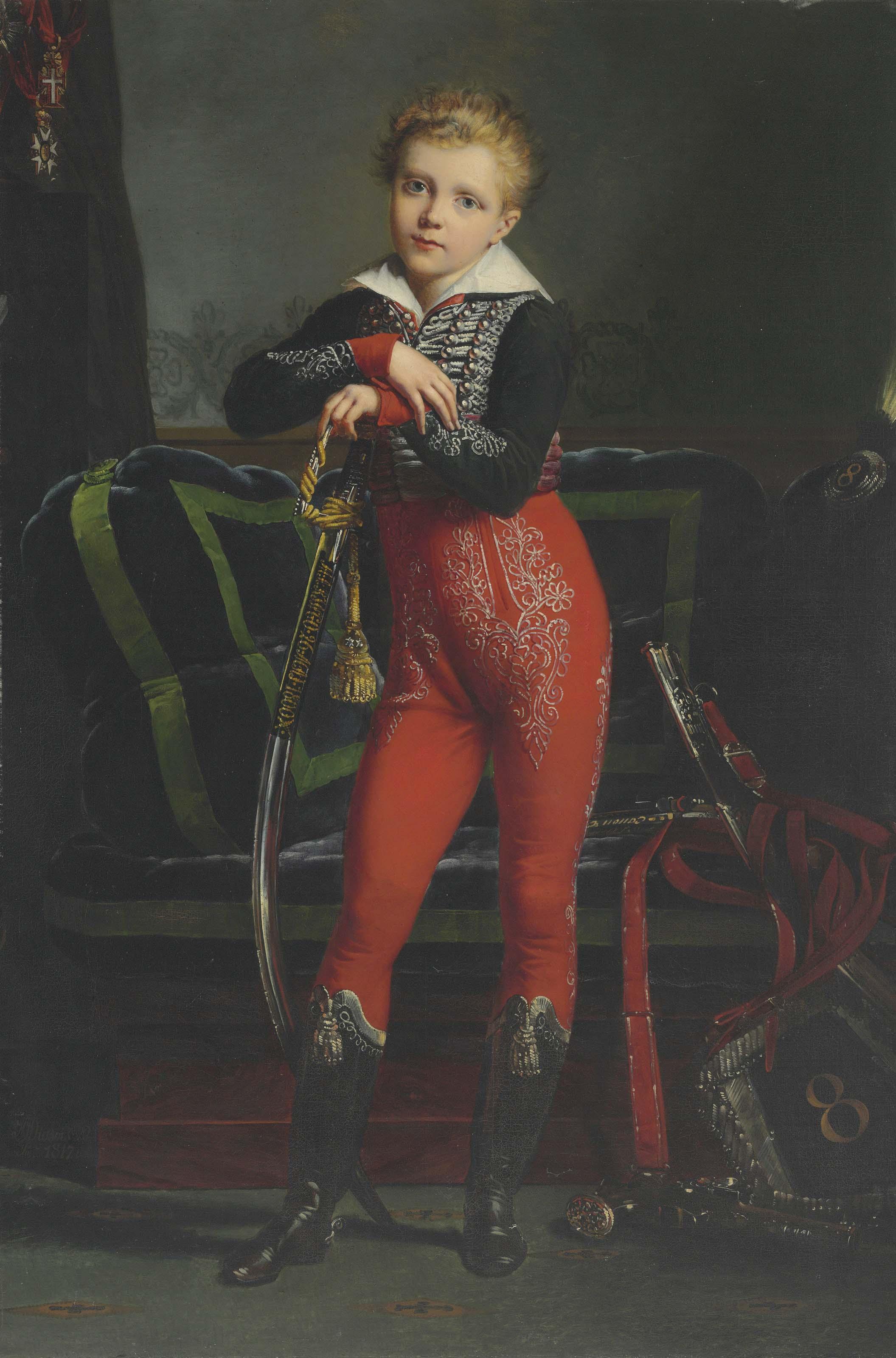 Portrait of Achille Deban de Laborde (1808-1888), later Baron Dedeban de Laborde, full-length, with the medal of the Légion d'honneur