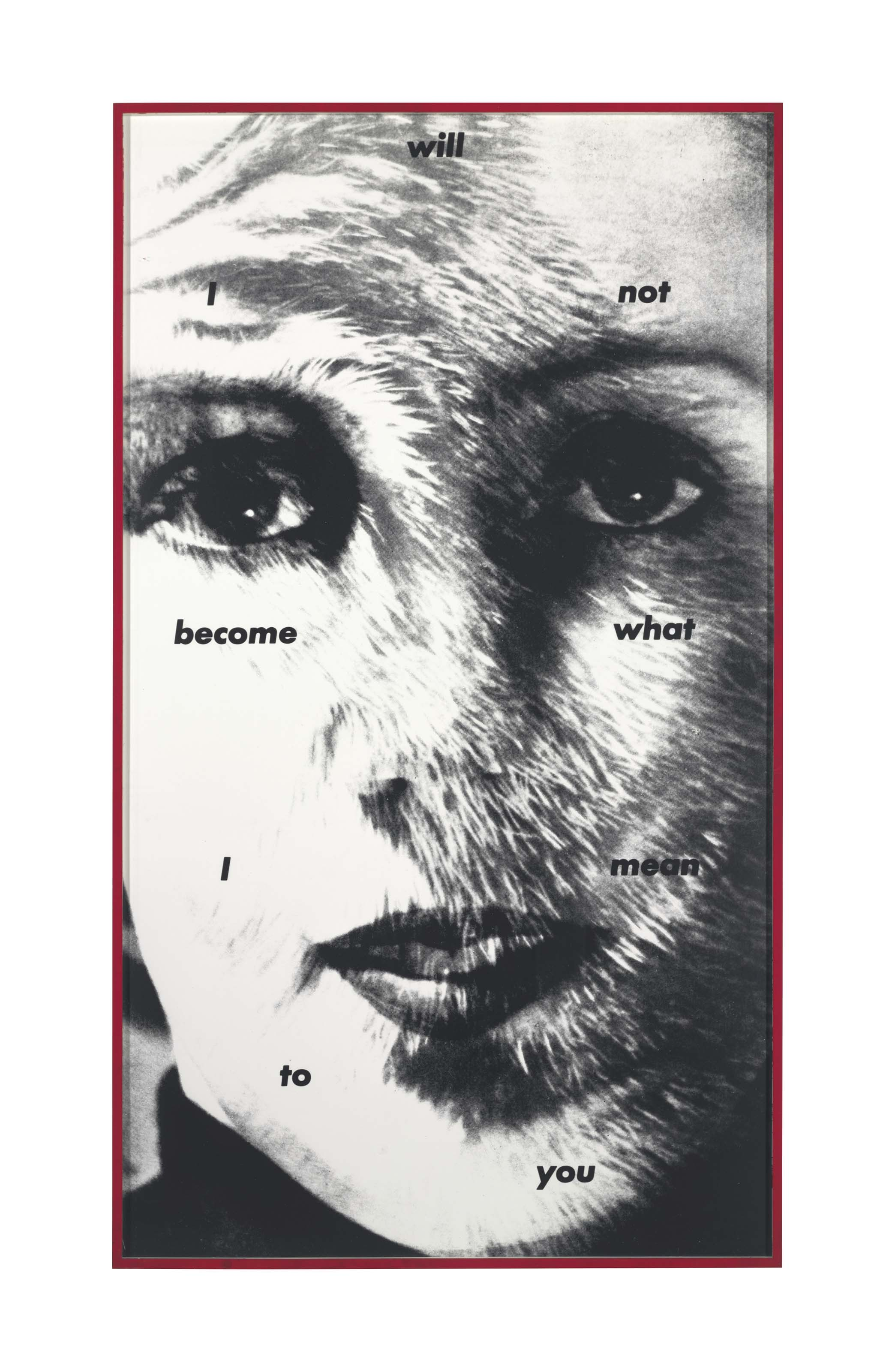 Untitled (I will not become what I mean to you)