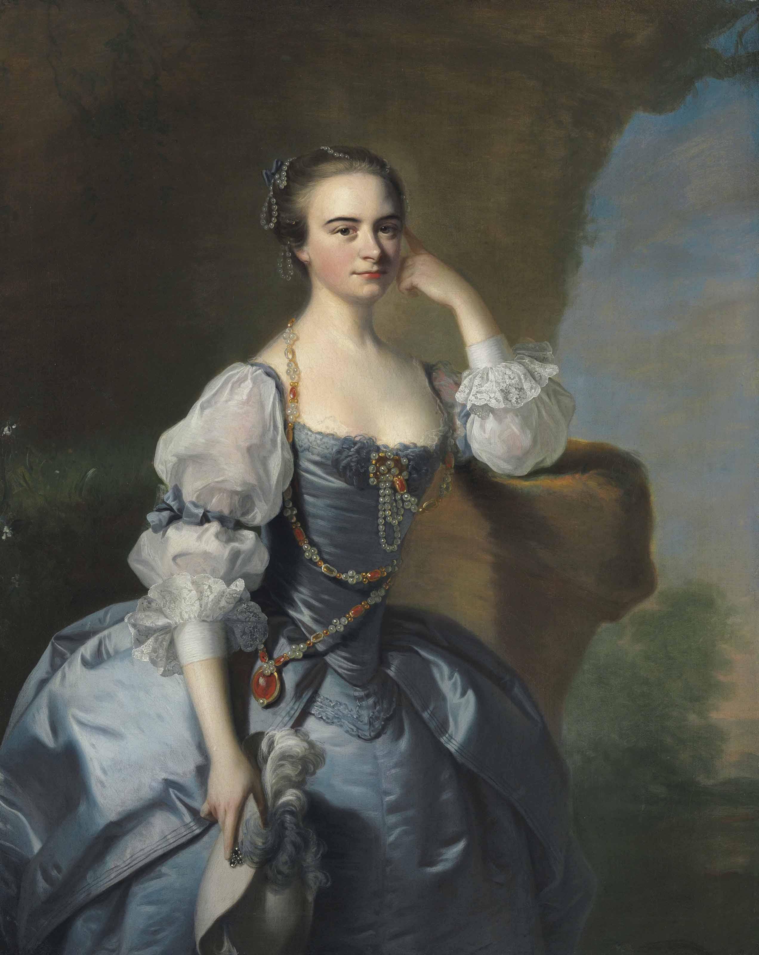 Portrait of Penelope Bayfield of Dedham Grove, Essex, three-quarter-length