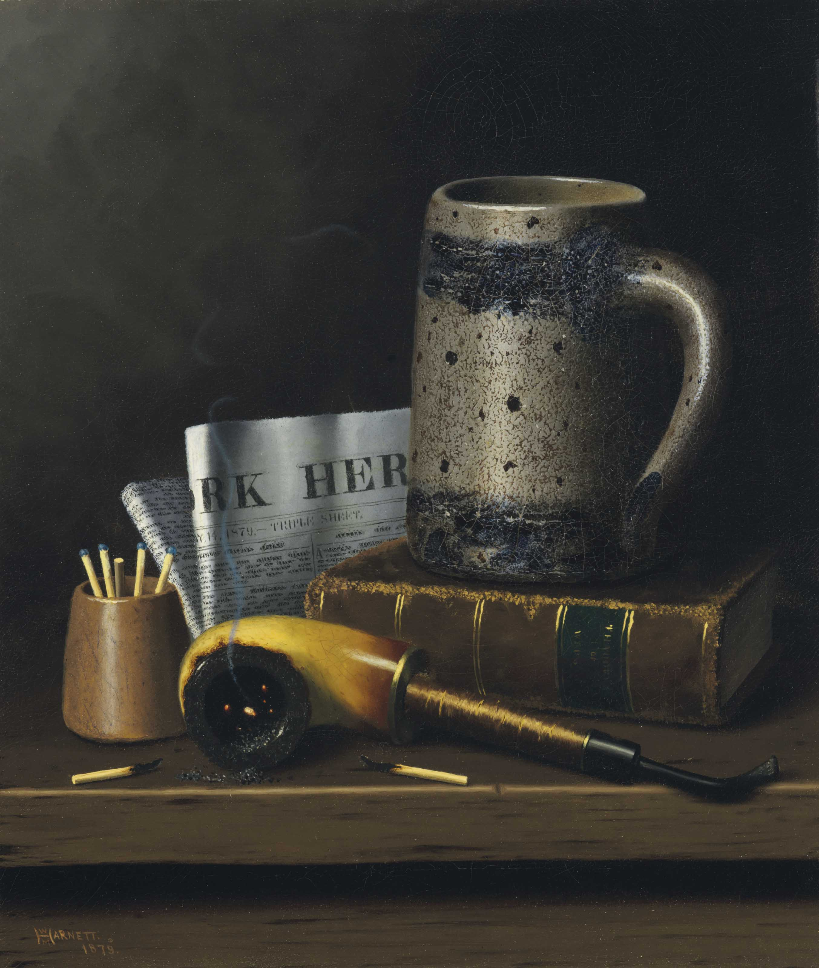 Still Life with New York Herald, Beer Stein and Pipe