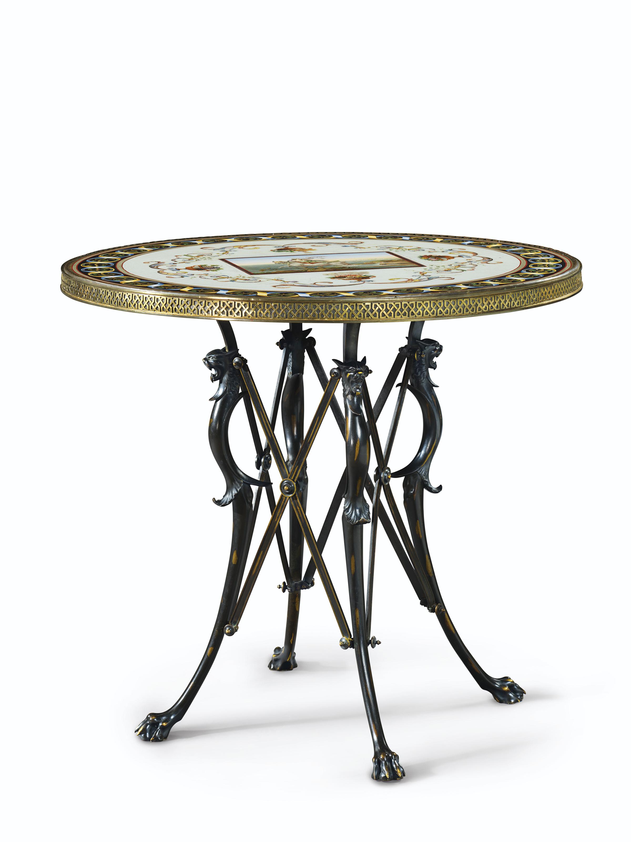 A ROMAN MICROMOSAIC TABLE