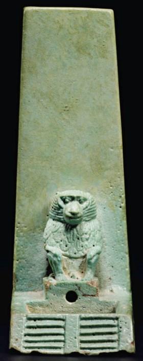 AN EGYPTIAN FAIENCE VOTIVE CLEPSYDRA