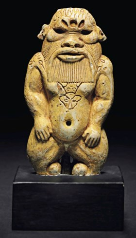 AN EGYPTIAN GLAZED STEATITE BES